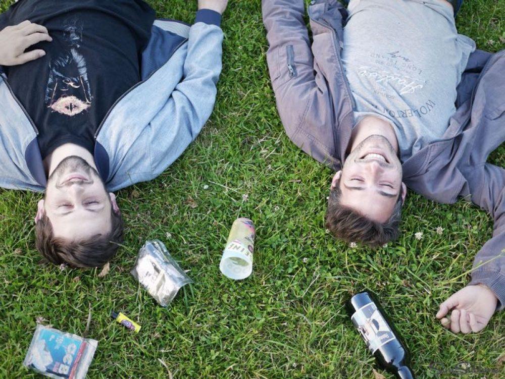 Soirée d'été au parc