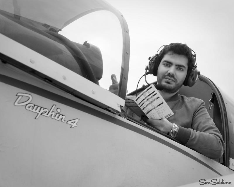 Portrait de Marc V. pilote d'avion