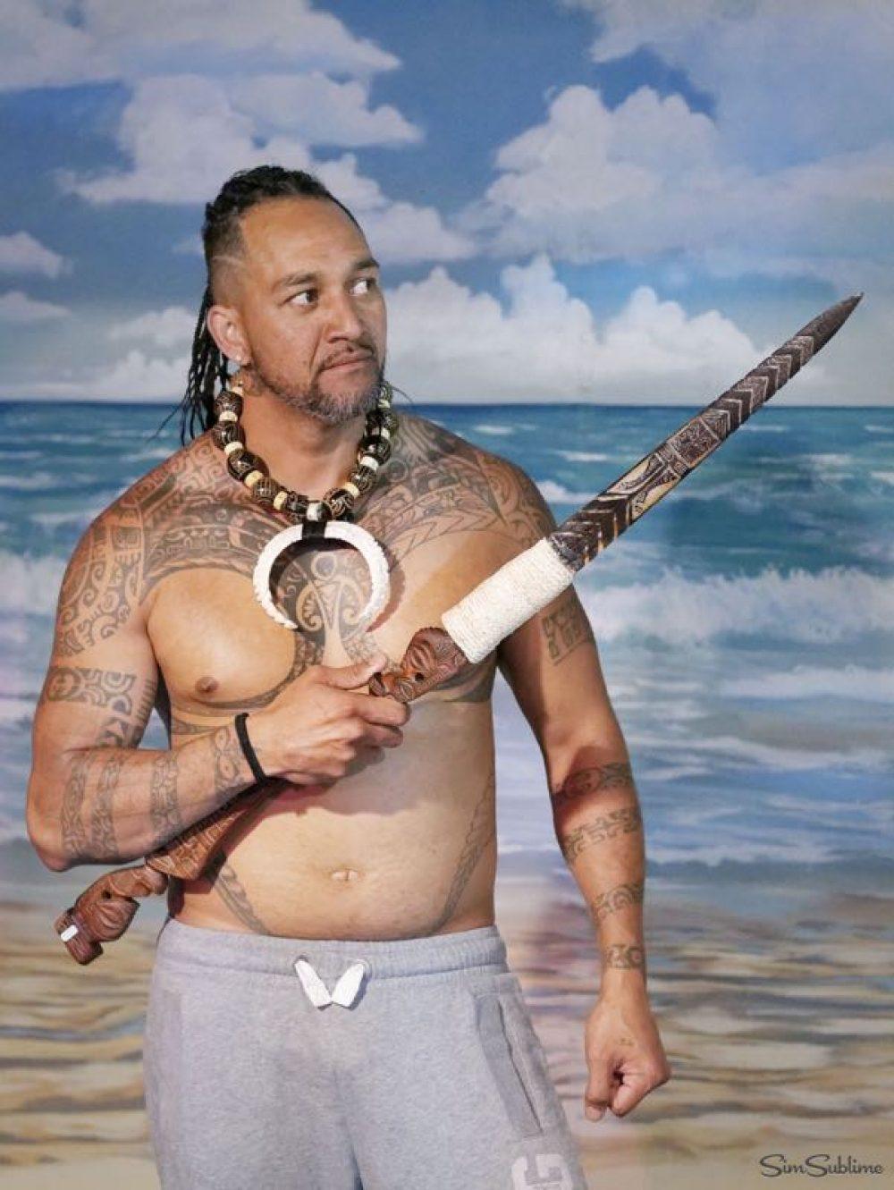 Danseur tahitien