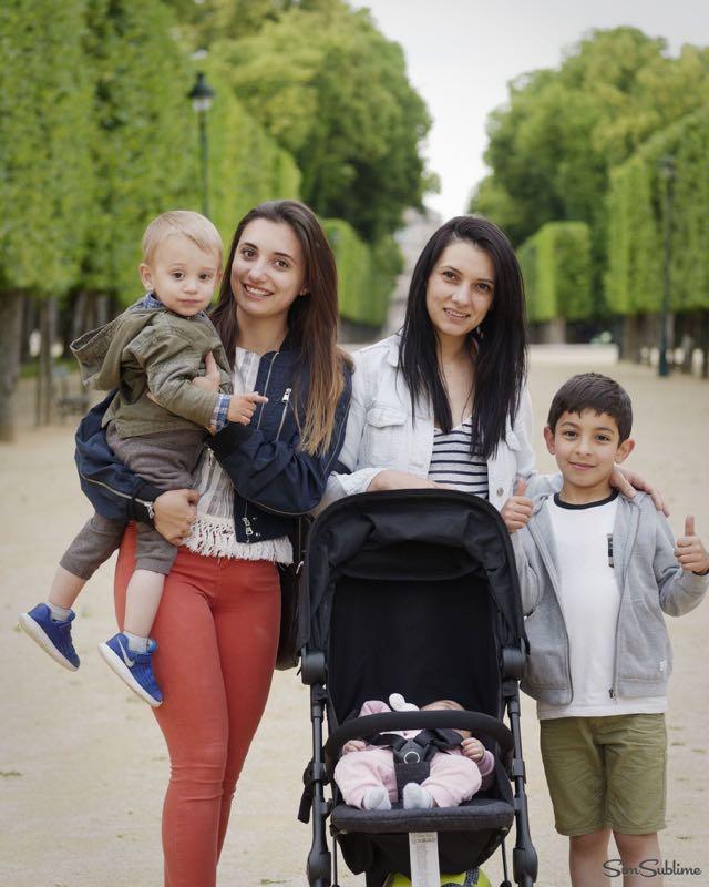 Mamans et enfants au parc de Blossac