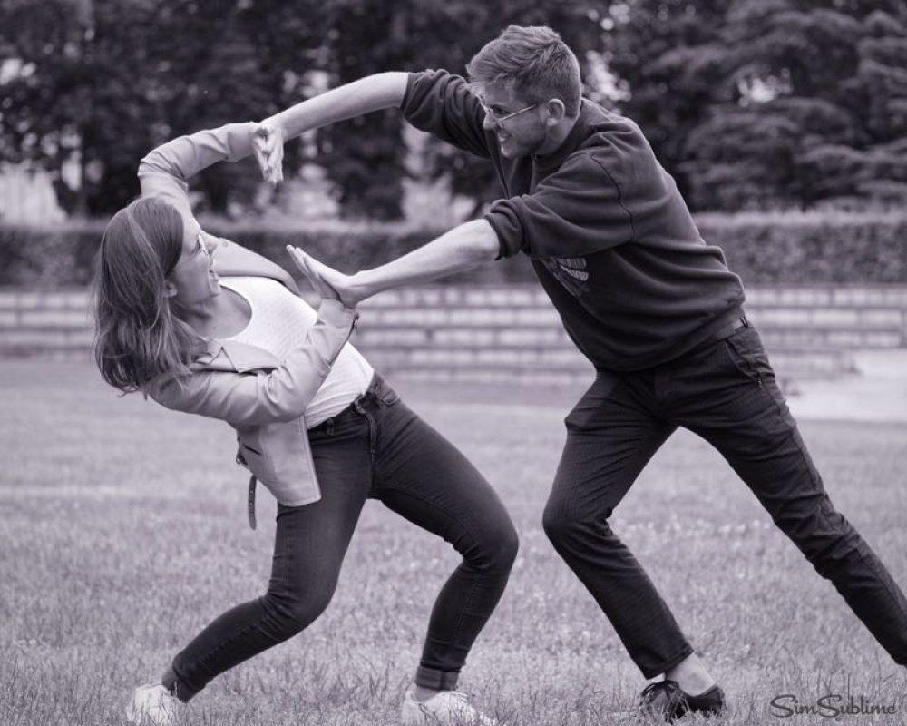 Combat final au parc de Blossac